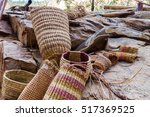 Small photo of Boomerang and traditional baskets weaved by Aboriginal people, Northern Territory