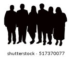silhouettes of people  standing ... | Shutterstock .eps vector #517370077