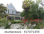 typical american house  blue... | Shutterstock . vector #517371355