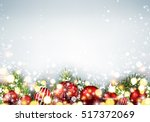 shining new year background... | Shutterstock .eps vector #517372069