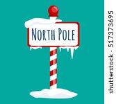 Christmas Icon North Pole Sign...