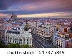 madrid. cityscape image of... | Shutterstock . vector #517375849