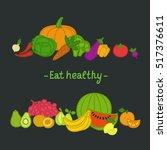 vector collection of fresh...   Shutterstock .eps vector #517376611