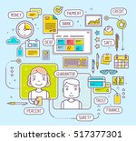 vector illustration of talking... | Shutterstock .eps vector #517377301