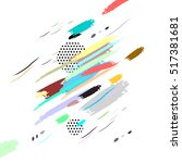 brush strokes on white... | Shutterstock .eps vector #517381681