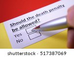 Small photo of Should the death penalty be allowed? Yes.