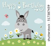 Happy Birthday  Cute Donkey...