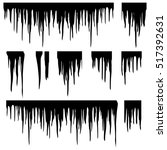 icicles silhouette vector set. | Shutterstock .eps vector #517392631