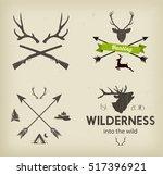 hunting club symbols set vector    Shutterstock .eps vector #517396921
