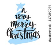 christmas card template. a very ... | Shutterstock .eps vector #517397074