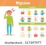 migraine infographic. headache. ... | Shutterstock .eps vector #517397977