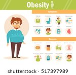 causes and symptoms of obesity  ... | Shutterstock .eps vector #517397989