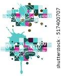 technical grunge background ...   Shutterstock .eps vector #517400707