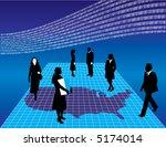 business people on a map of...   Shutterstock .eps vector #5174014