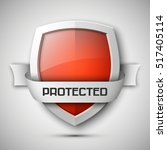 protection shield concept with... | Shutterstock .eps vector #517405114