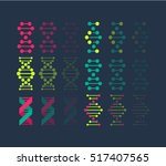 dna  genetic sign  elements and ... | Shutterstock .eps vector #517407565