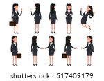 office women flat set. vector... | Shutterstock .eps vector #517409179
