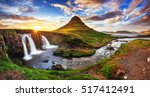 the picturesque sunset over... | Shutterstock . vector #517412491