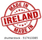 made in ireland. stamp. | Shutterstock .eps vector #517413385