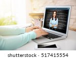 Woman Video Conferencing With...