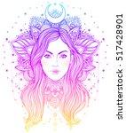 tribal fusion boho diva.... | Shutterstock .eps vector #517428901