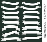 banner ribbon scroll collection ... | Shutterstock .eps vector #517429897