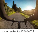 cycling in tuscany on autumn... | Shutterstock . vector #517436611