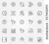 productivity line icons set....   Shutterstock .eps vector #517442491