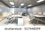white model office working area ... | Shutterstock . vector #517448599