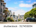 white clouds fly over san... | Shutterstock . vector #517453054