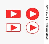 play button icons. | Shutterstock .eps vector #517457629
