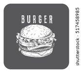 illustration of a burger ... | Shutterstock .eps vector #517458985