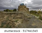 ruins of historical wall around ... | Shutterstock . vector #517461565