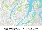 urban city map of copenhagen | Shutterstock .eps vector #517465279