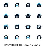 houses icon set for web sites... | Shutterstock .eps vector #517466149