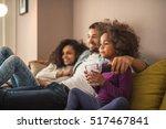 happy african american family... | Shutterstock . vector #517467841