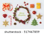christmas decorations and... | Shutterstock . vector #517467859