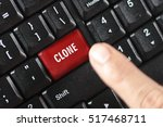 clone word on red keyboard... | Shutterstock . vector #517468711
