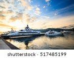 Luxury Yacht Marina. Port In...