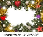 christmas frame  decorations | Shutterstock . vector #517499044