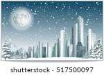 vector christmas card with... | Shutterstock .eps vector #517500097