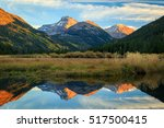 sunset reflection in the uinta... | Shutterstock . vector #517500415