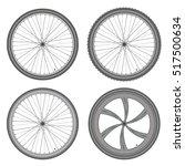 bike wheels different set on... | Shutterstock .eps vector #517500634