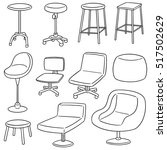 vector set of chairs | Shutterstock .eps vector #517502629