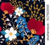 floral seamless pattern. hand... | Shutterstock .eps vector #517503505
