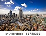 city of london  wide angle view ... | Shutterstock . vector #51750391