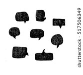 set of handdrawn vector speech... | Shutterstock .eps vector #517506349
