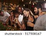 friends having fun at a...   Shutterstock . vector #517508167