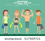 character flat style in gym.... | Shutterstock .eps vector #517509721