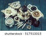 various car parts | Shutterstock . vector #517513315